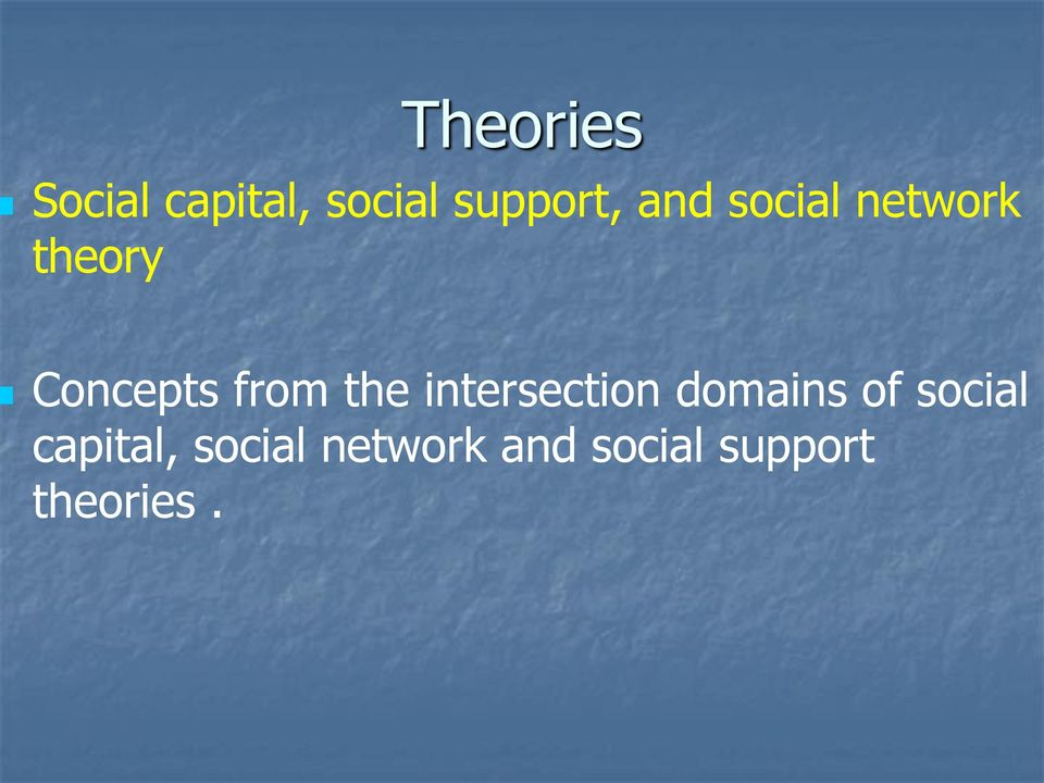 the intersection domains of social