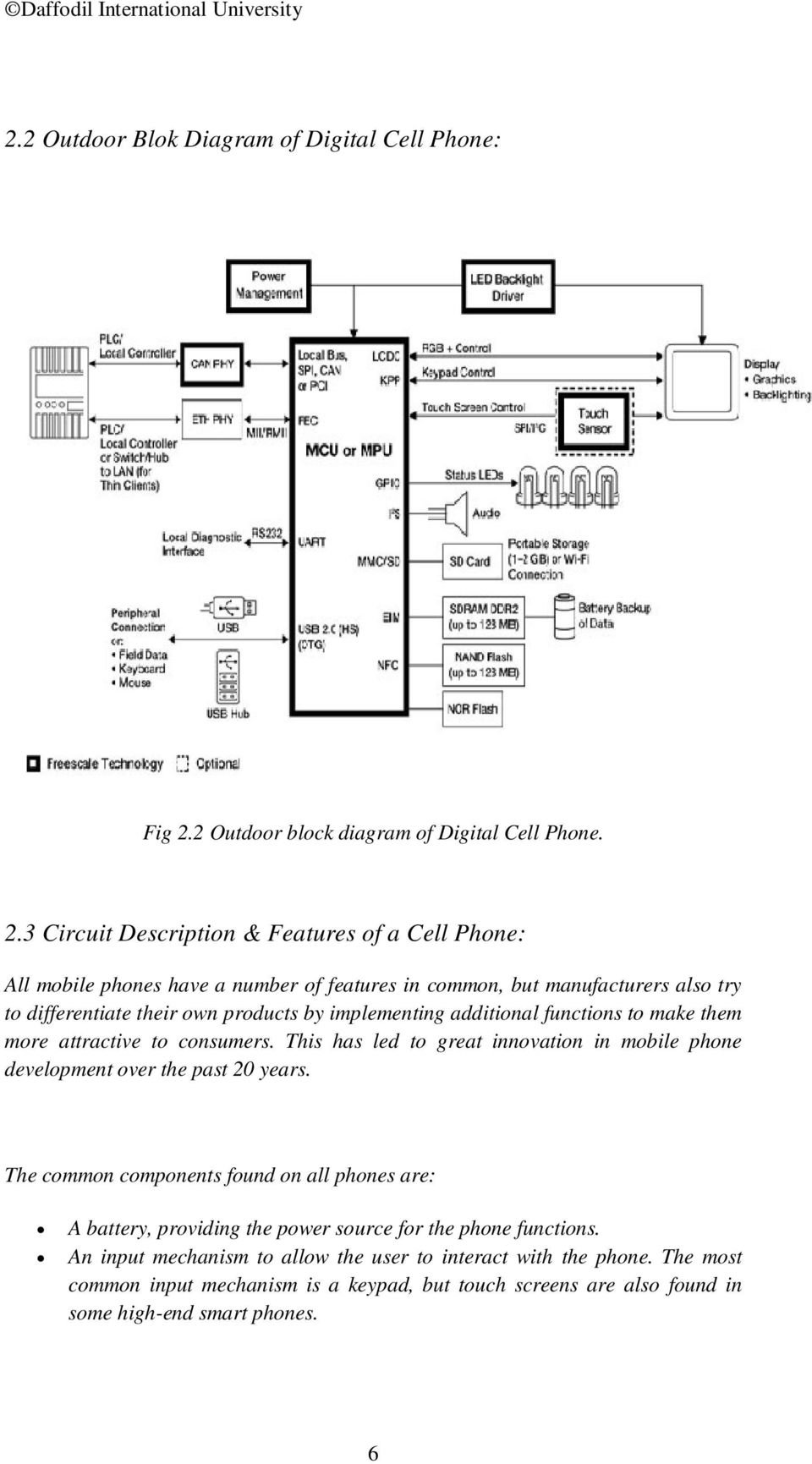 Implementation Of A Digital Cell Phone Pdf Programmable Integrated Circuitcard Music Circuitintegrated Circuits 3 Circuit Description Features All Mobile Phones Have Number
