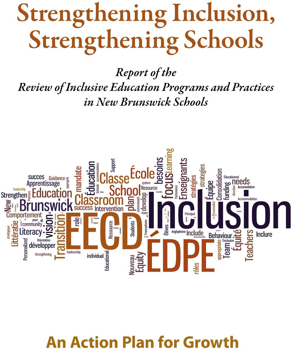 Inclusive Education Programs and