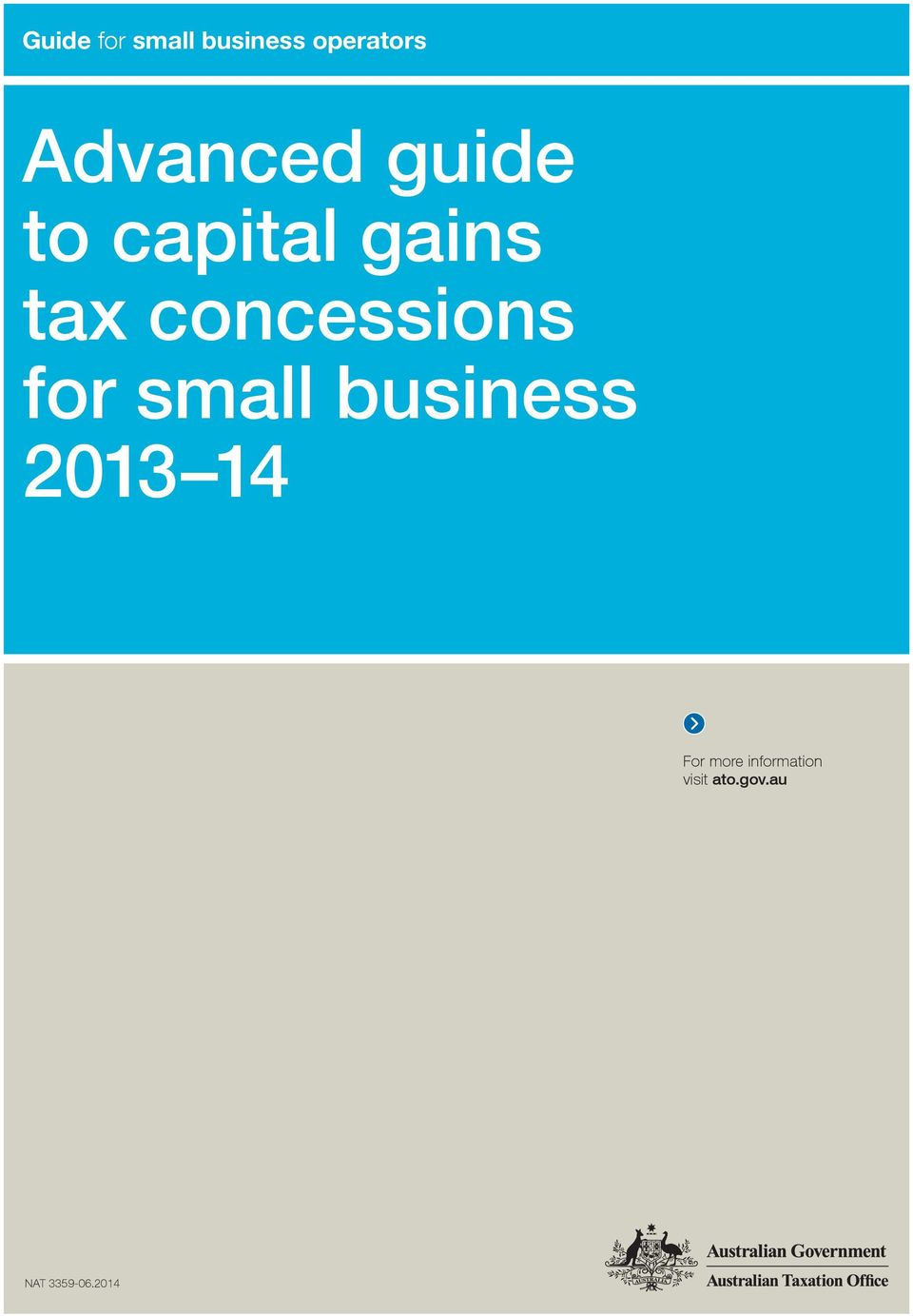 concessions for small business 2013 14