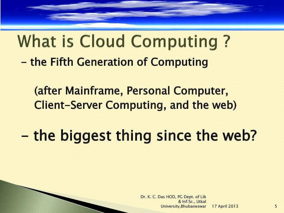 Client-Server Computing, and the web) -