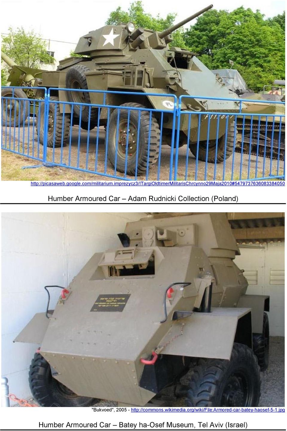 "Humber Armoured Car Adam Rudnicki Collection (Poland) ""Bukvoed"", 2005 -"