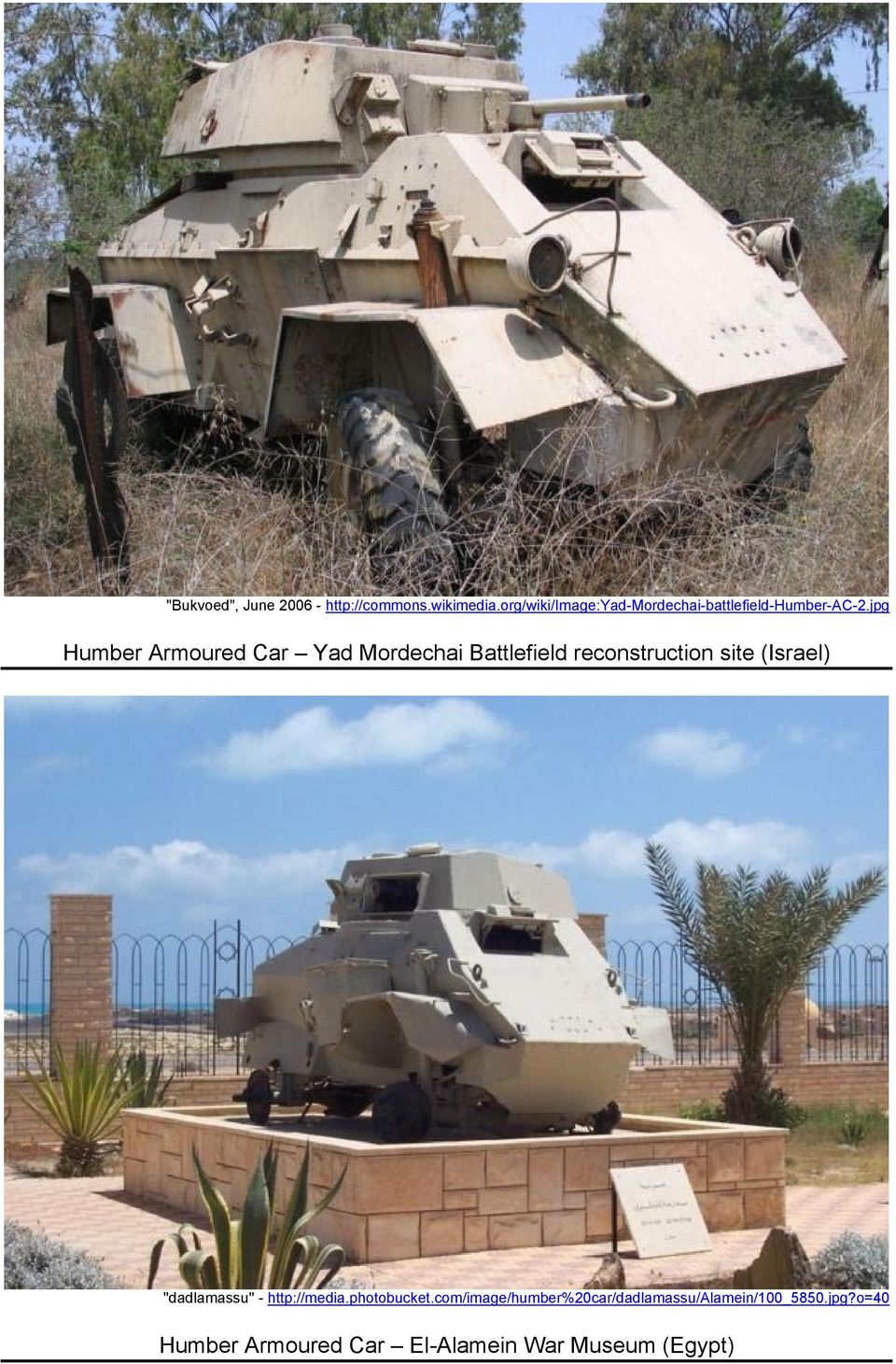 jpg Humber Armoured Car Yad Mordechai Battlefield reconstruction site (Israel)