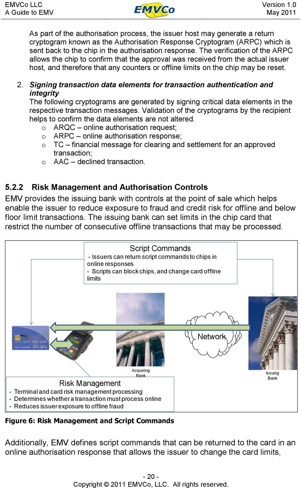 The verification of the ARPC allows the chip to confirm that the approval was received from the actual issuer host, and therefore that any counters or offline limits on the chip may be reset. 2.