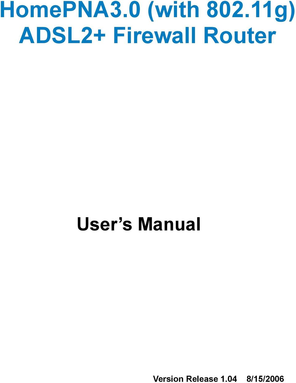 Router User s Manual
