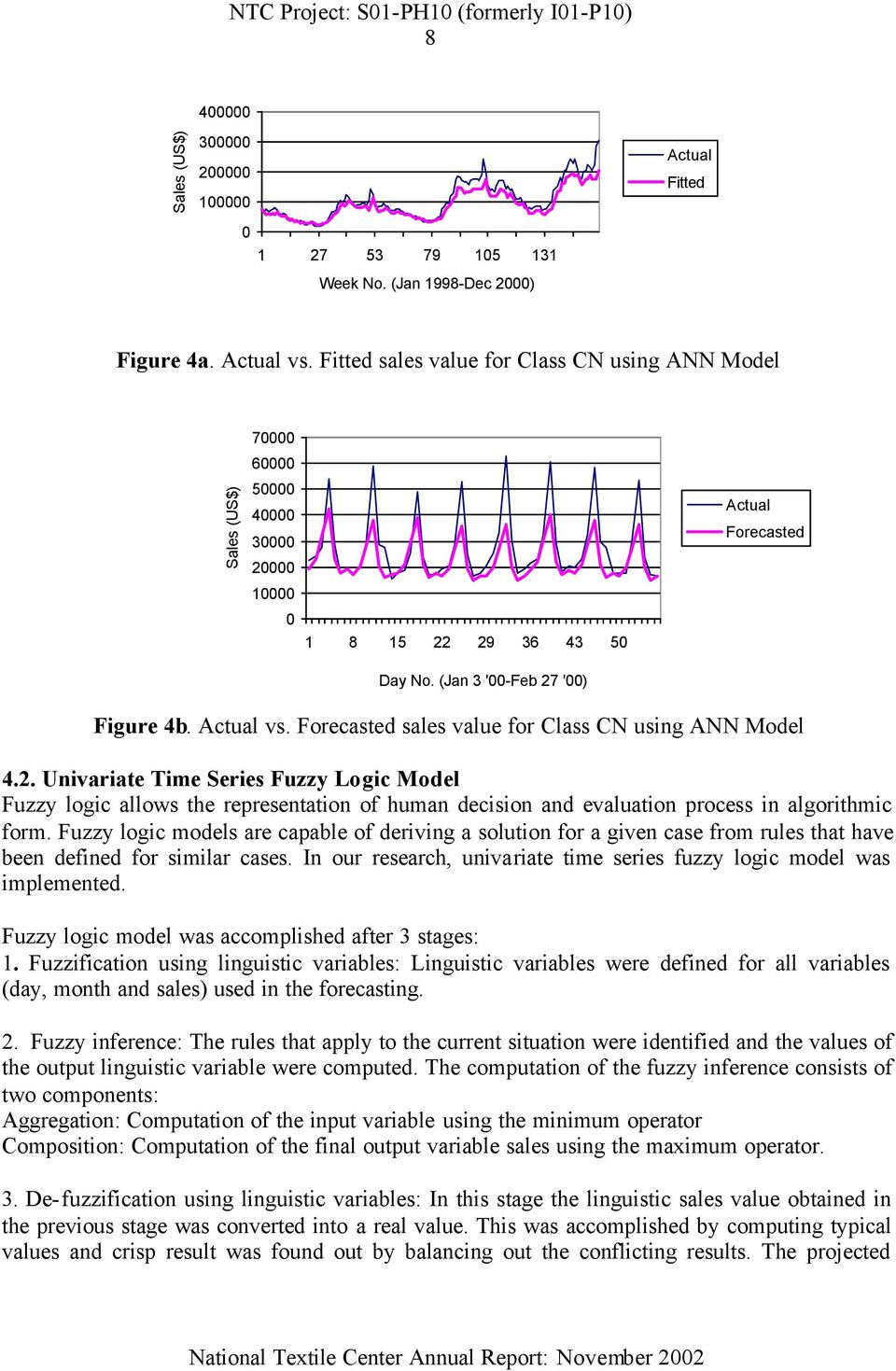 Fuzzy logic models are capable of deriving a solution for a given case from rules that have been defined for similar cases. In our research, univariate time series fuzzy logic model was implemented.