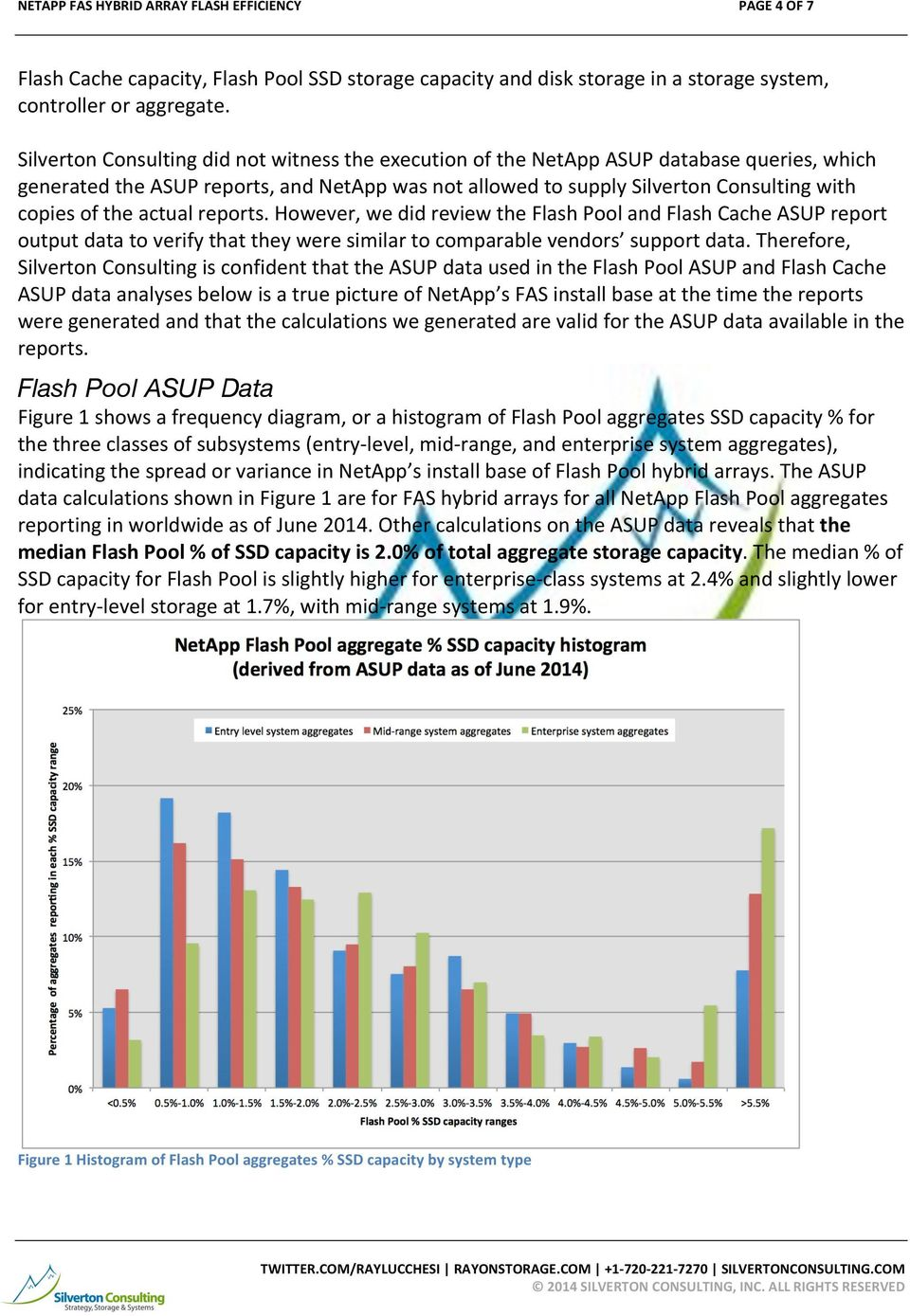actual reports. However, we did review the Flash Pool and Flash Cache ASUP report output data to verify that they were similar to comparable vendors support data.