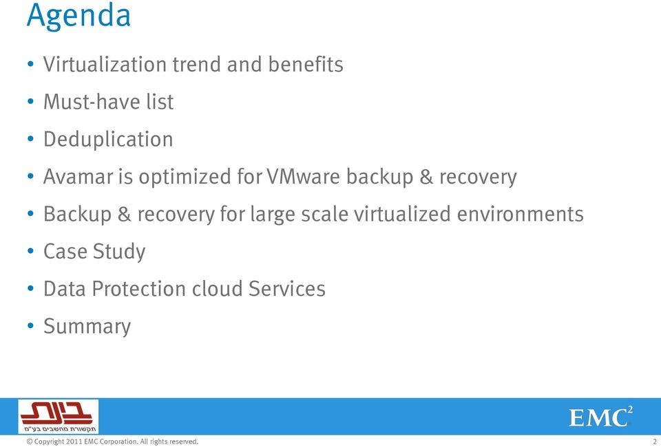 recovery Backup & recovery for large scale virtualized