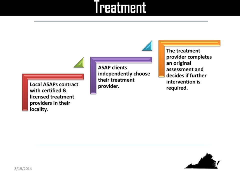 ASAP clients independently choose their treatment provider.