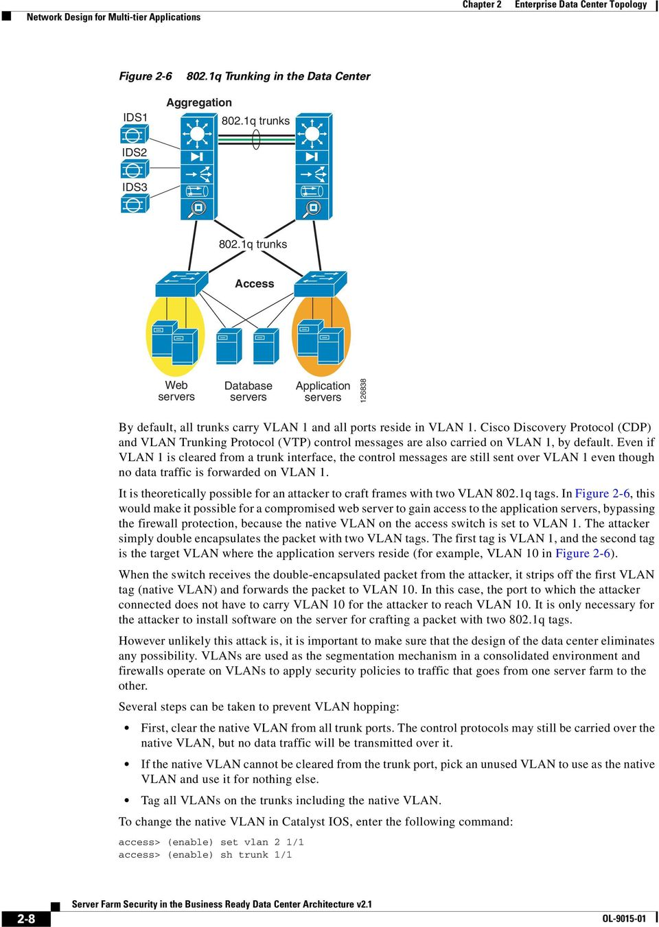 Cisco Discovery Protocol (CDP) and VLAN Trunking Protocol (VTP) control messages are also carried on VLAN 1, by default.