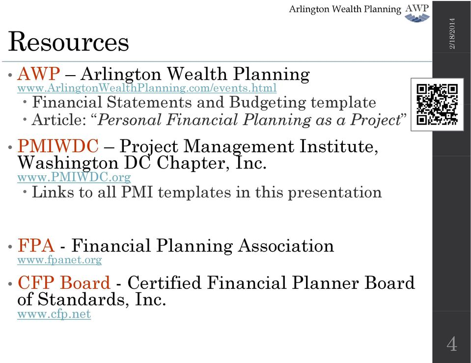 Project Management Institute, Washington DC Chapter, Inc. www.pmiwdc.