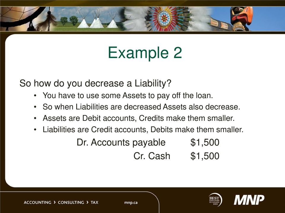So when Liabilities are decreased Assets also decrease.