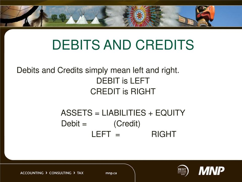 DEBIT is LEFT CREDIT is RIGHT ASSETS =