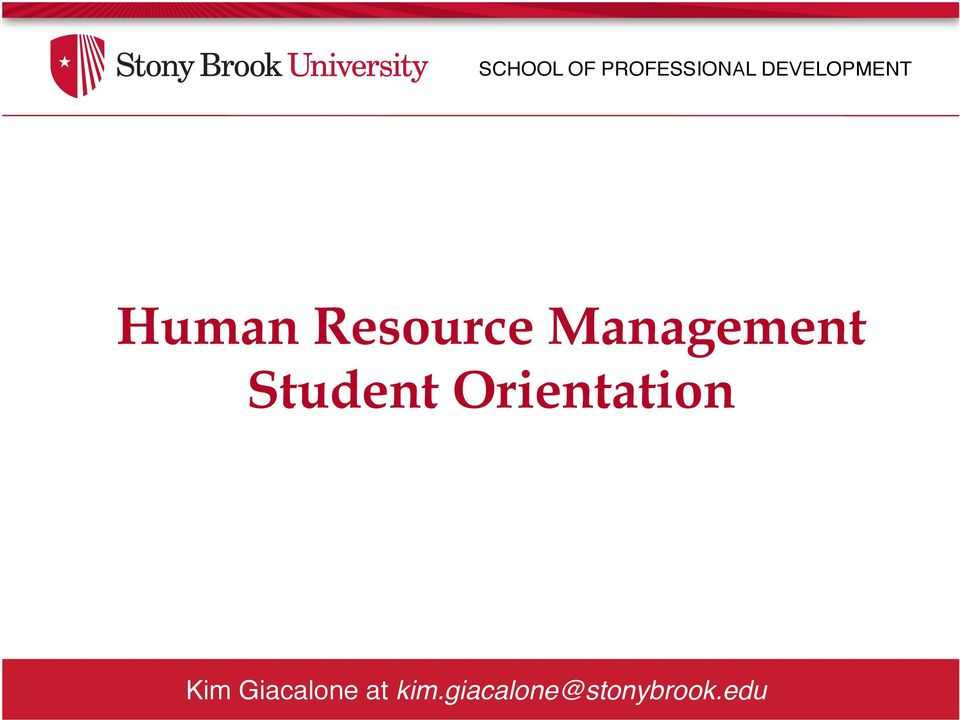 Management Student Orientation