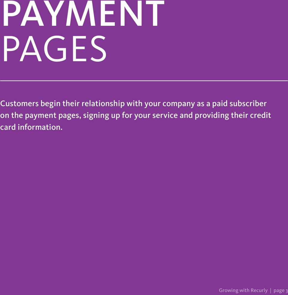 payment pages, signing up for your service and