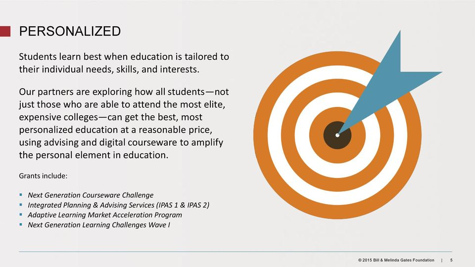 education at a reasonable price, using advising and digital courseware to amplify the personal element in education.