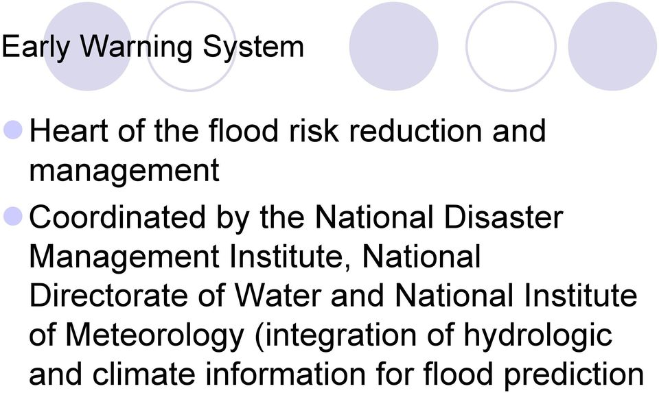 Institute, National Directorate of Water and National Institute of