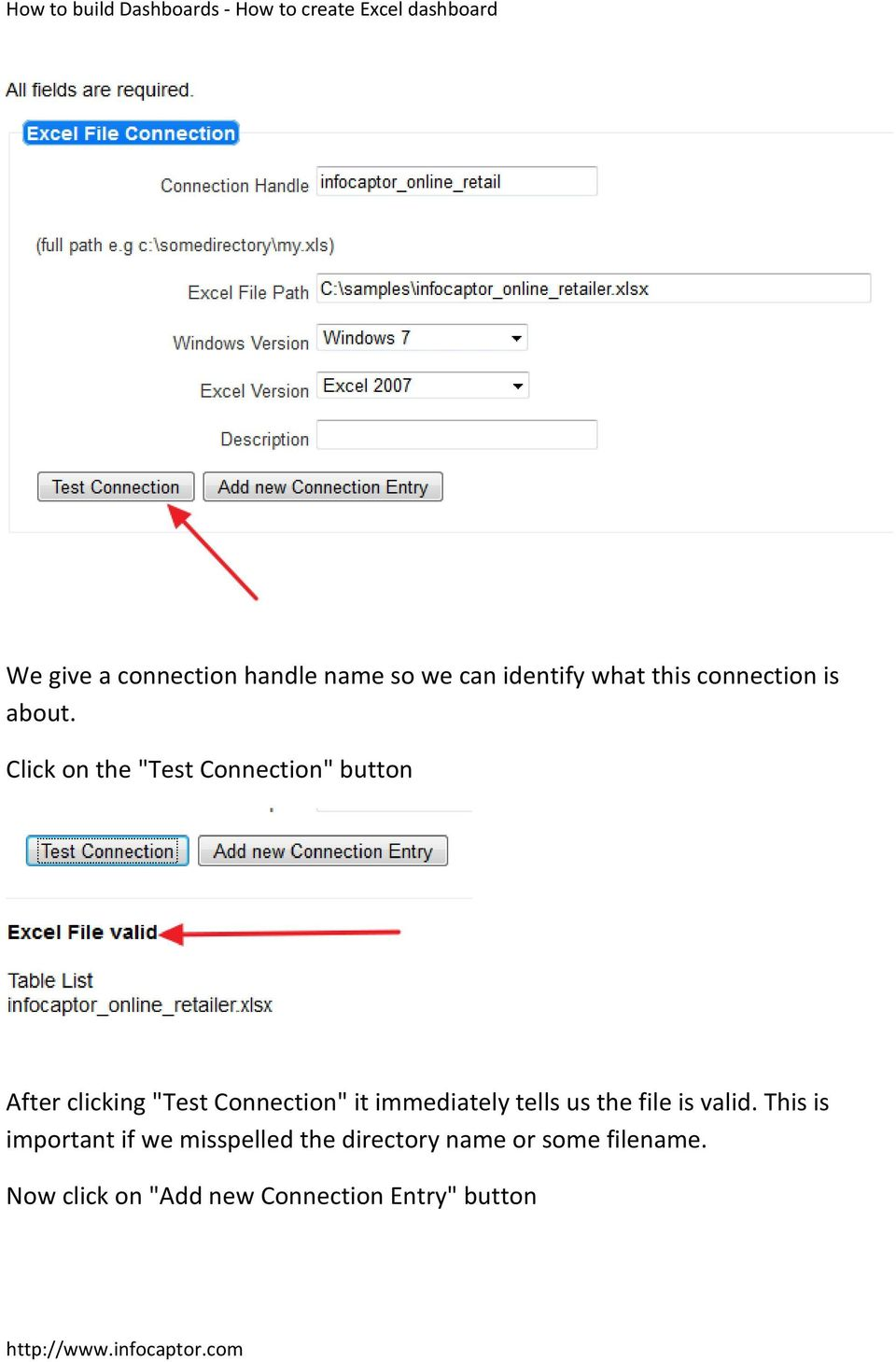 "Click on the ""Test Connection"" button After clicking ""Test Connection"" it"