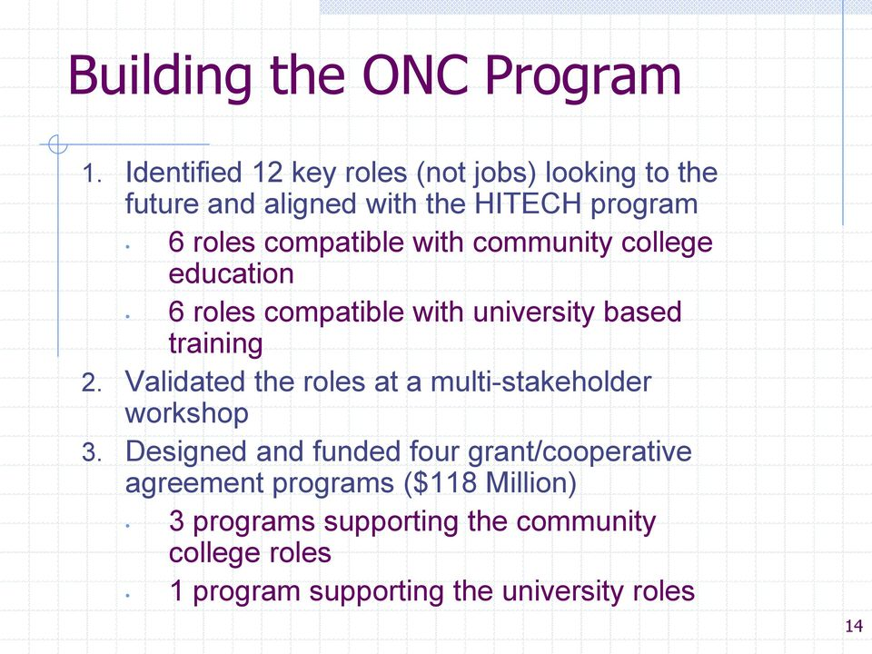 with community college education 6 roles compatible with university based training 2.