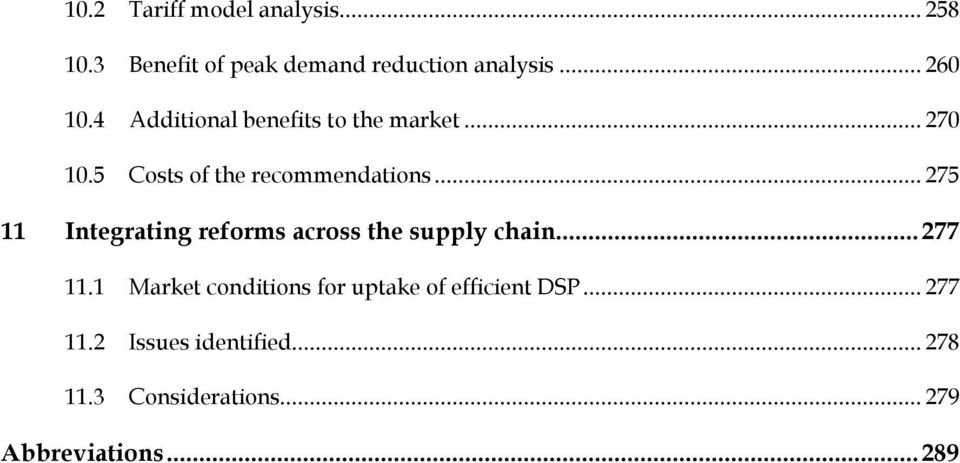 .. 275 11 Integrating reforms across the supply chain... 277 11.