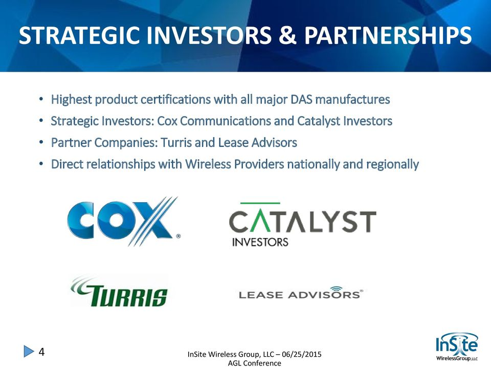 Communications and Catalyst Investors Partner Companies: Turris and