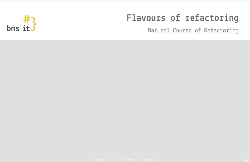 Course of Refactoring