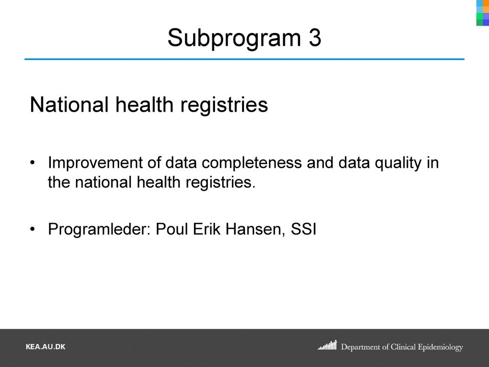 data quality in the national health