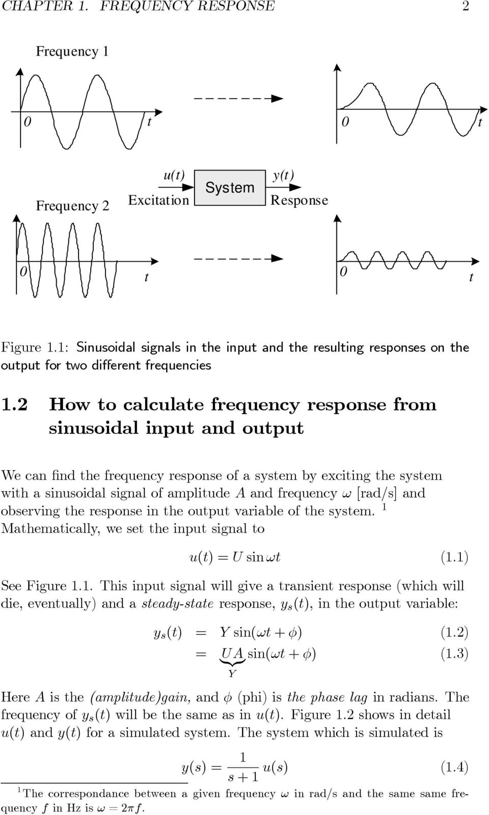 Frequency Response Chapter Introduction Pdf Figure 1 Circuit Diagram For An Op Amp Summer Used As A Dac 2 How To Calculate From Sinusoidal Input And Output Wecanfindthefrequencyresponseofasystembyexcitingthesystem With Signal