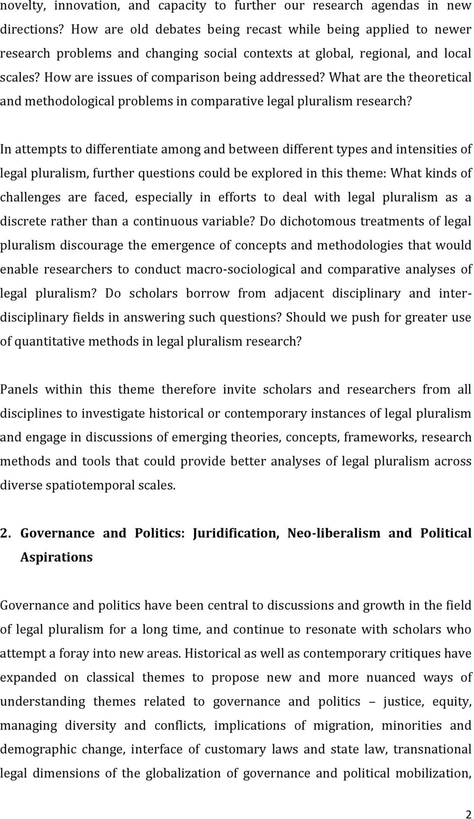 What are the theoretical and methodological problems in comparative legal pluralism research?
