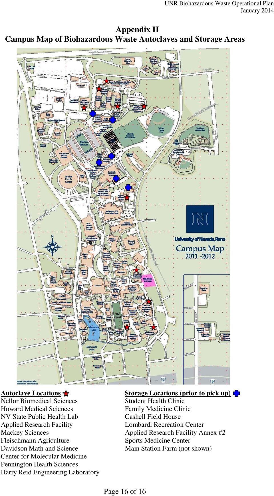 Unr Campus Map Pdf.University Of Nevada Reno Operational Plan For Management Of