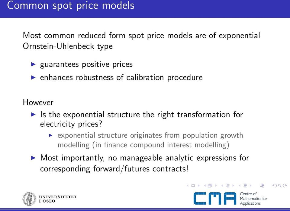 transformation for electricity prices?