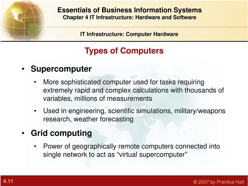 engineering, scientific simulations, military/weapons research, weather forecasting Grid computing Power of
