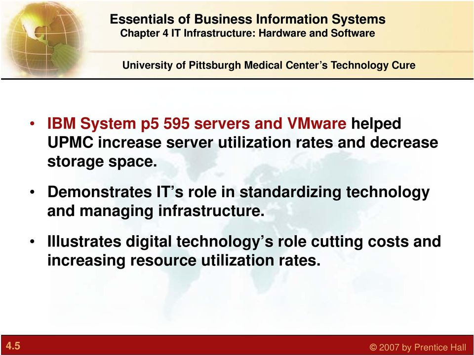 Demonstrates IT s role in standardizing technology and managing infrastructure.