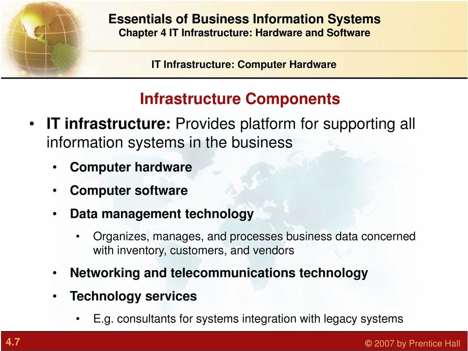 manages, and processes business data concerned with inventory, customers, and vendors Networking and