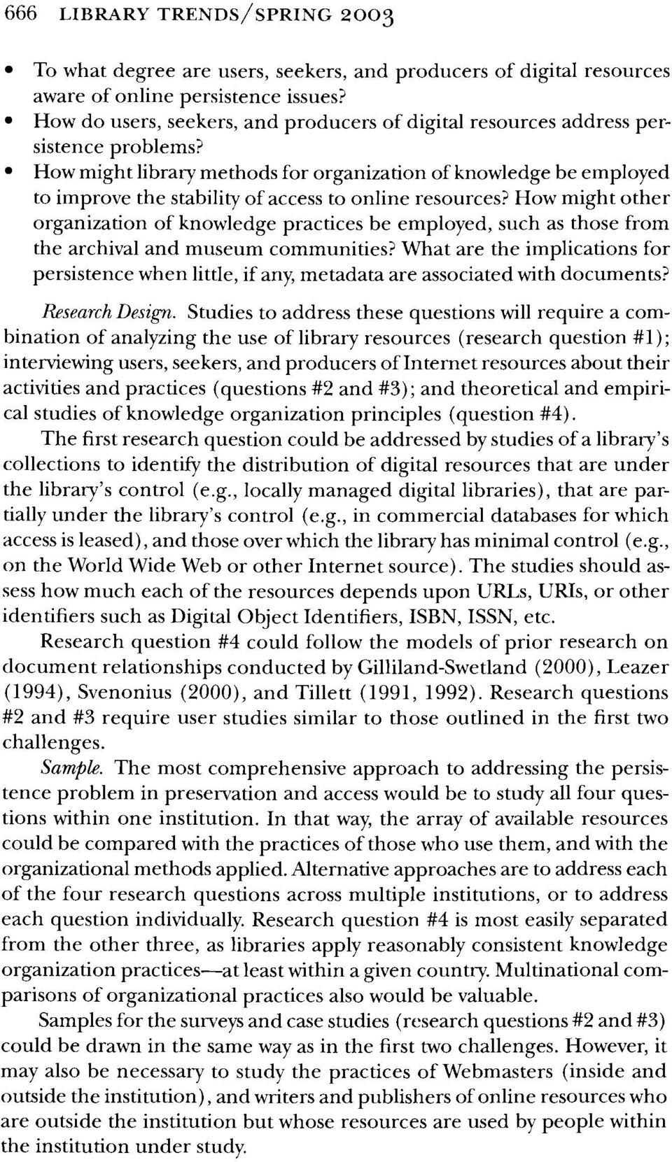 How might library methods for organization of knowledge be employed to improve the stability of access to online resources?