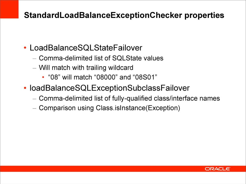match 08000 and 08S01 loadbalancesqlexceptionsubclassfailover Comma-delimited