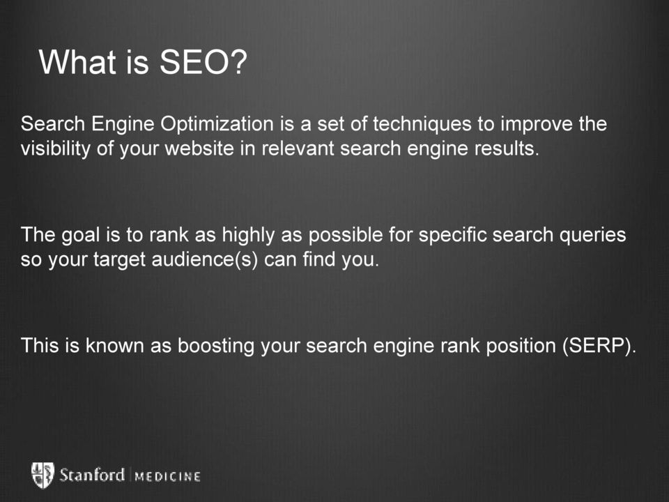 your website in relevant search engine results.