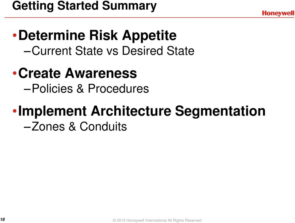 Procedures Implement Architecture Segmentation Zones &
