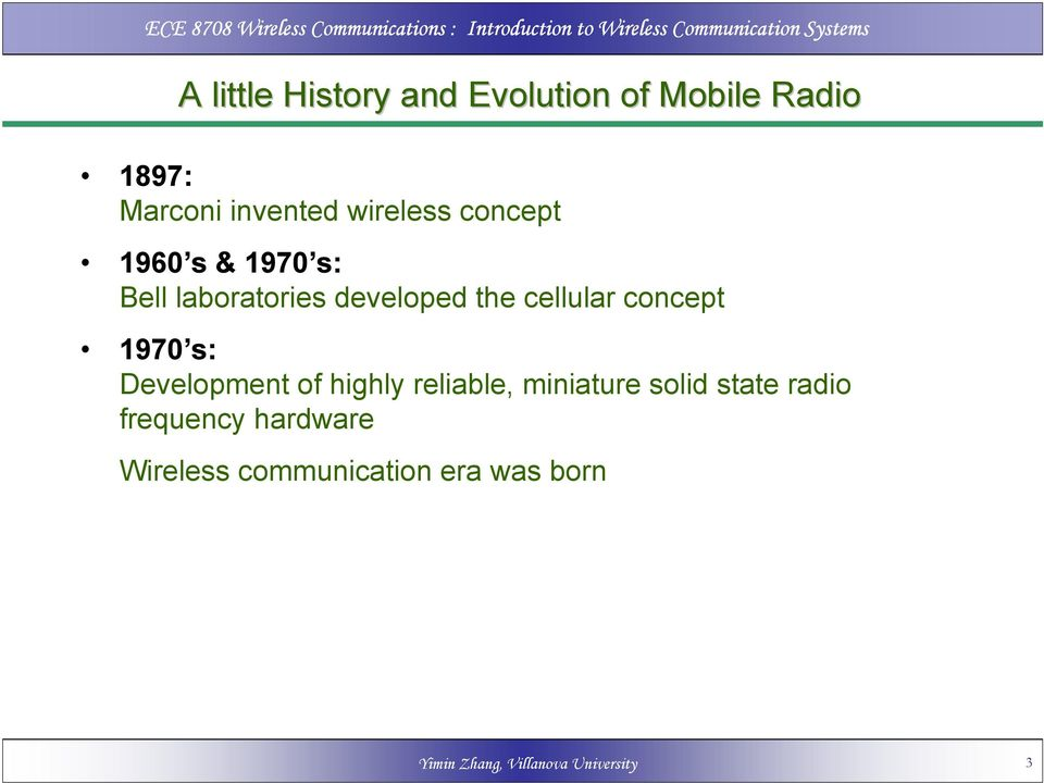 concept 1970 s: Development of highly reliable, miniature solid state radio