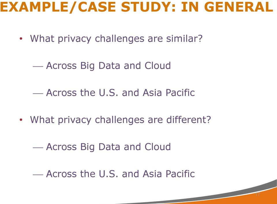 and Asia Pacific What privacy challenges are different?