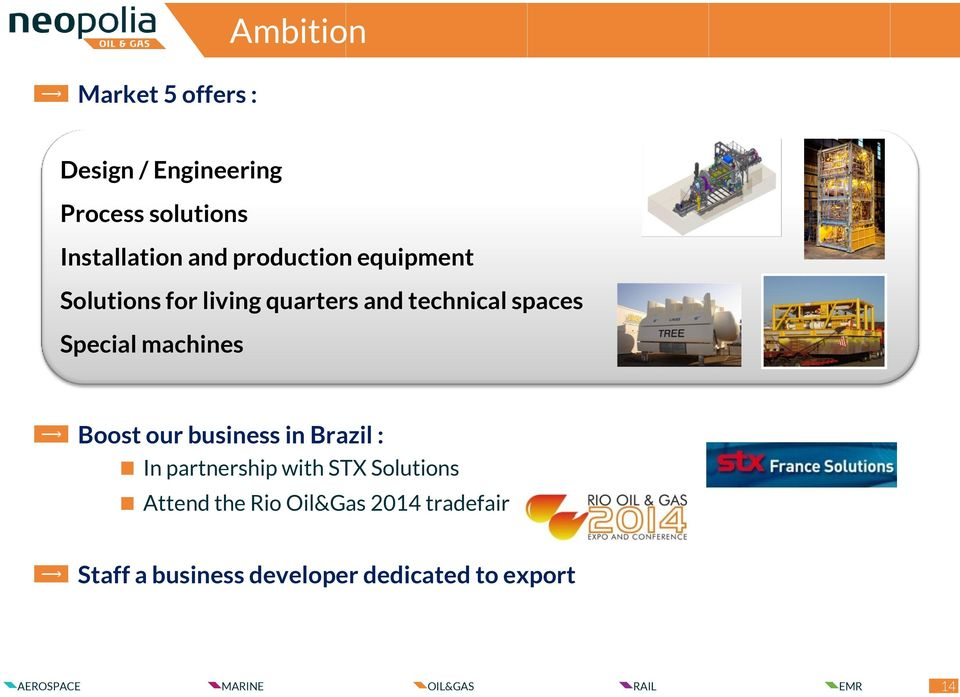 Special machines Boost our business in Brazil : In partnership with STX