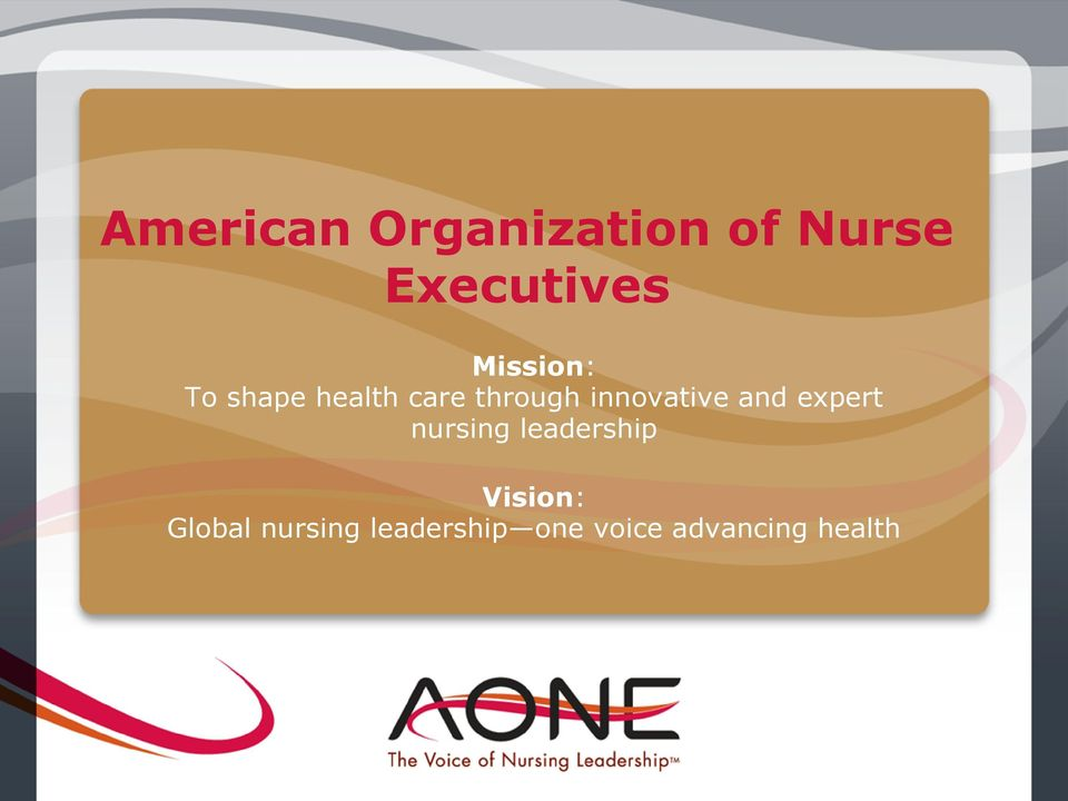innovative and expert nursing leadership