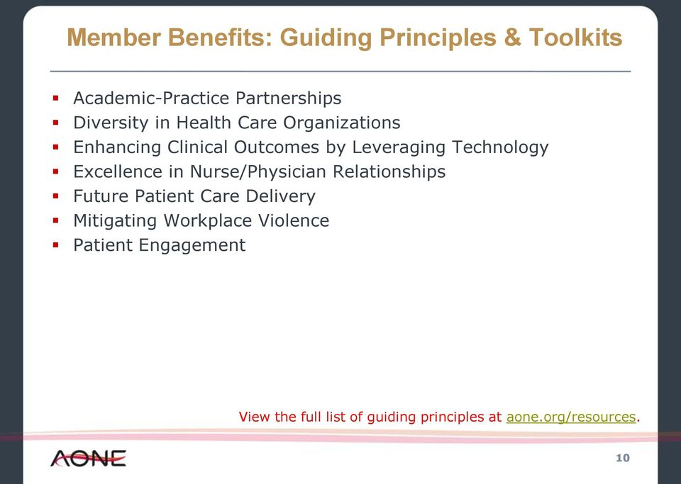 Excellence in Nurse/Physician Relationships Future Patient Care Delivery Mitigating