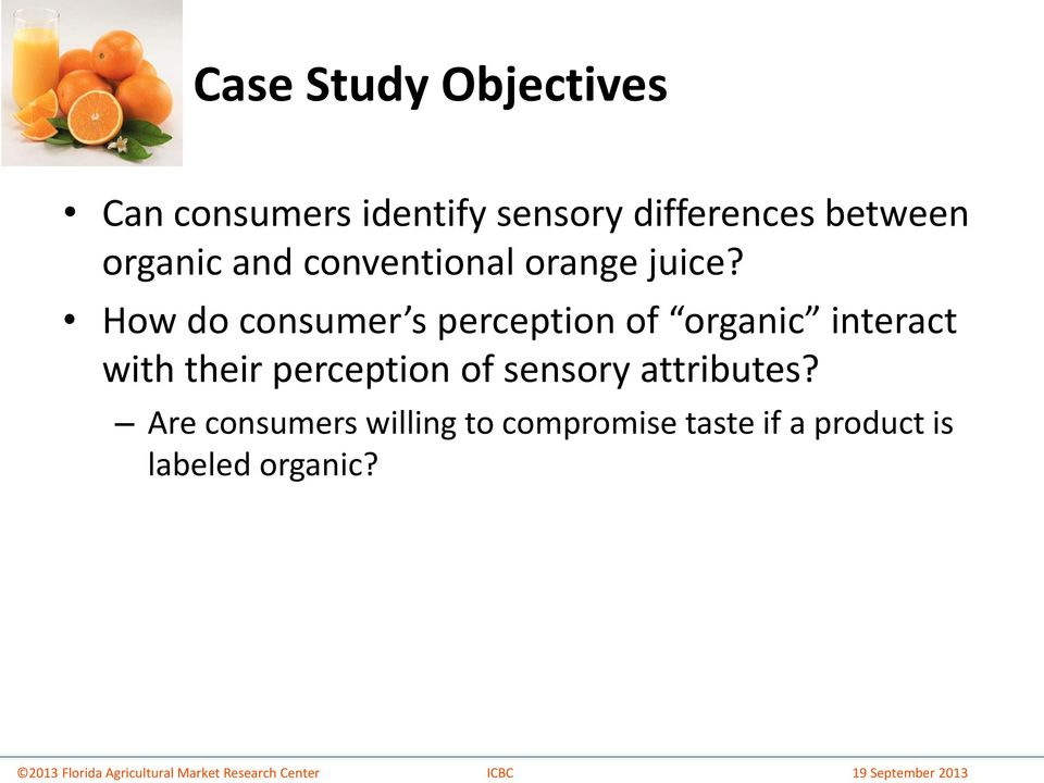 How do consumer s perception of organic interact with their