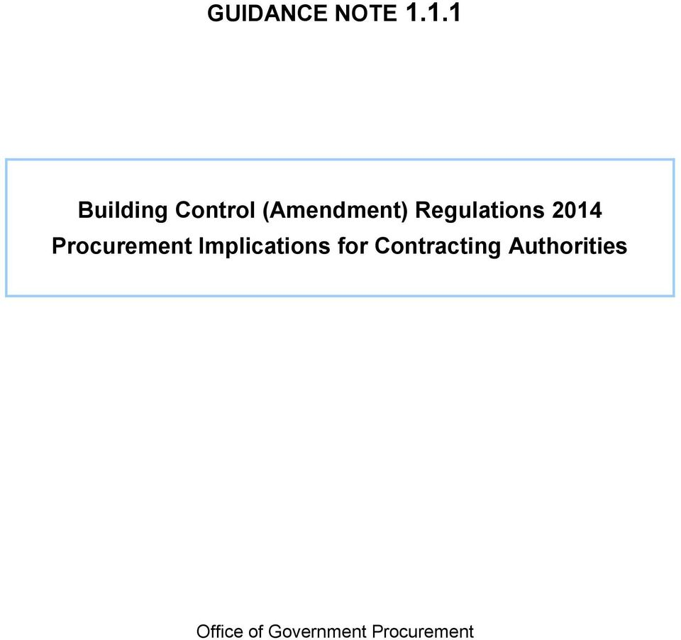 Regulations 2014 Procurement