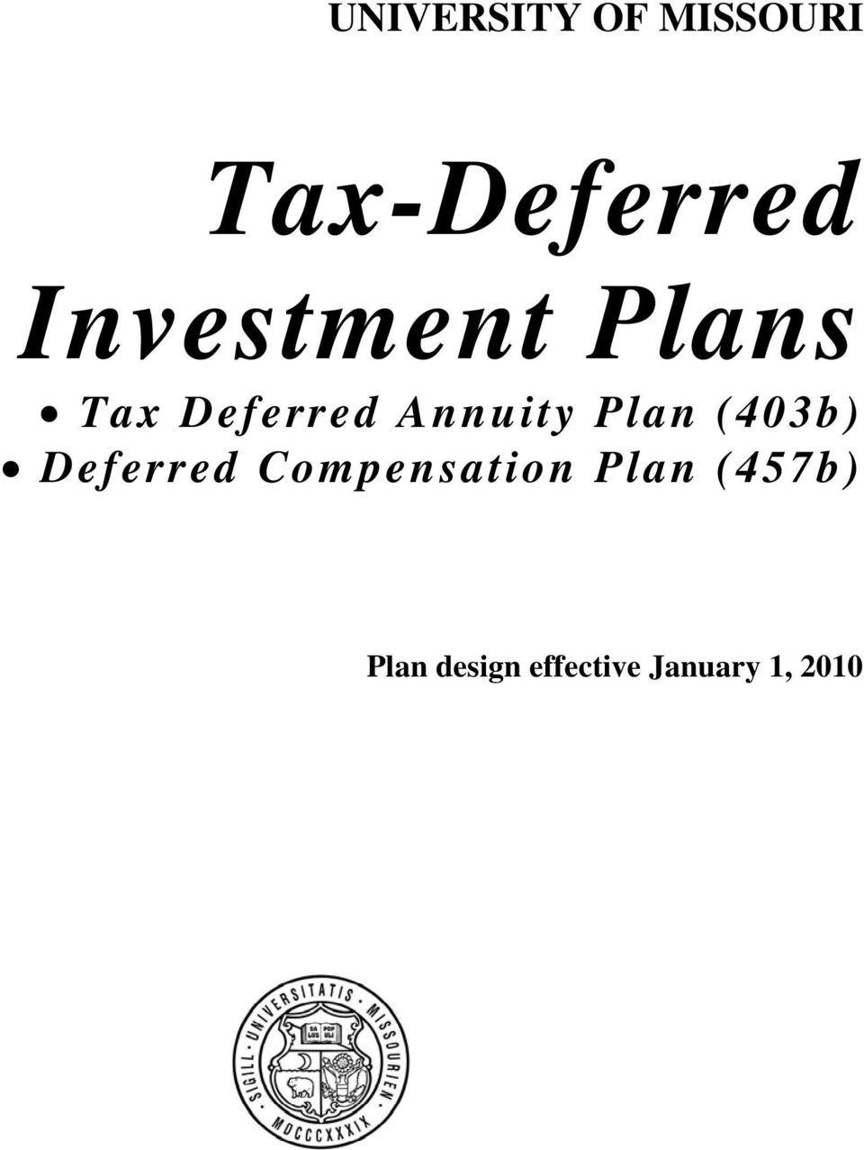 Plan (403b) Deferred Compensation Plan