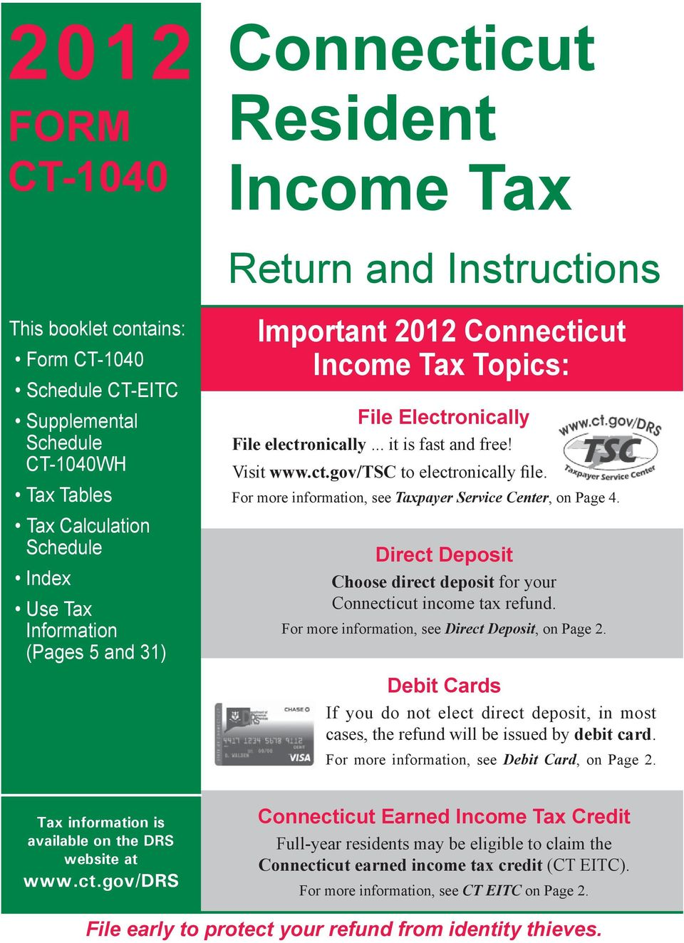 Connecticut Resident Income Tax Pdf