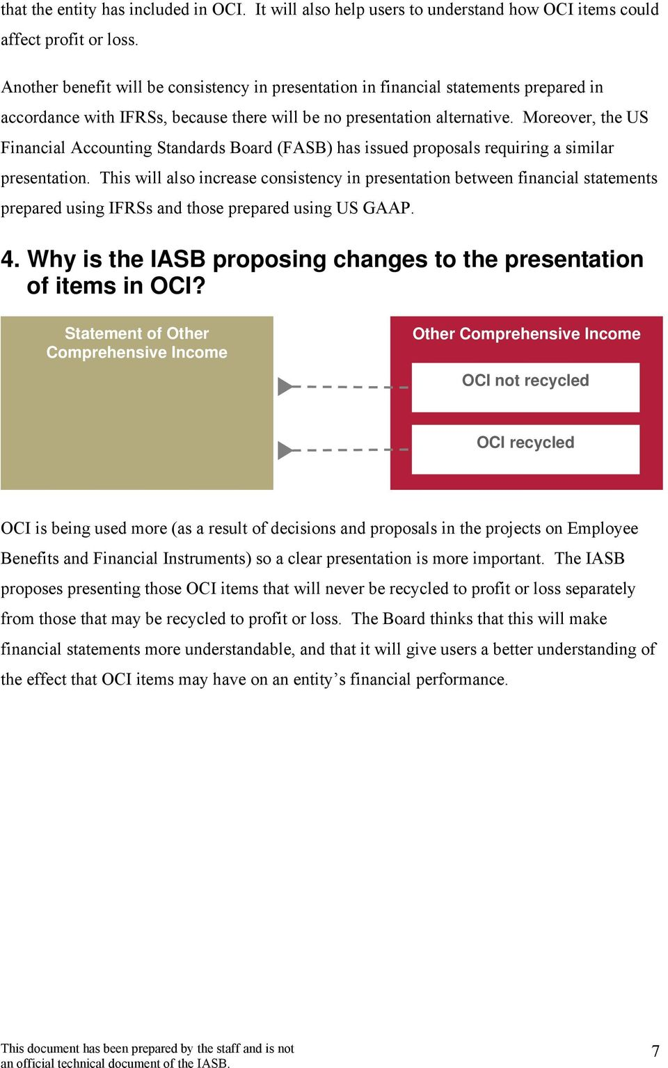 Moreover, the US Financial Accounting Standards Board (FASB) has issued proposals requiring a similar presentation.