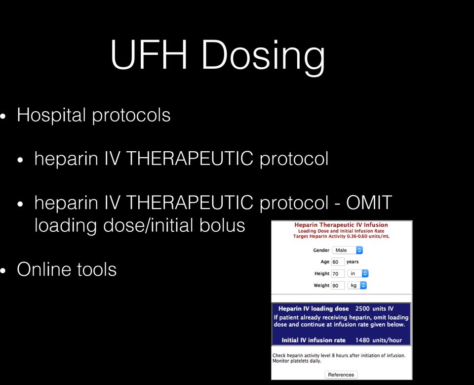 heparin IV THERAPEUTIC protocol -