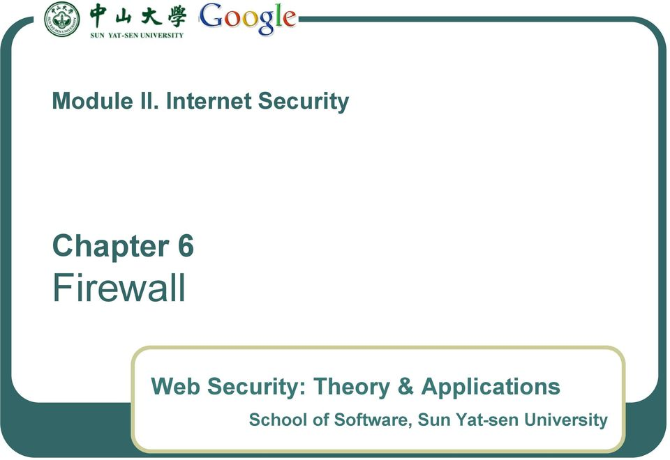 Firewall Web Security: Theory &